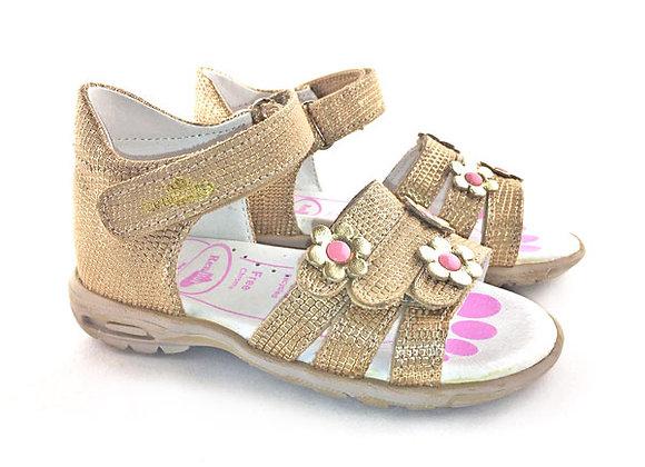 RBG11_283_OS Gold Leather Sandals