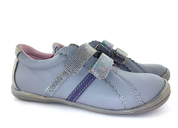 MG1235_36_S Gray Leather Sneakers