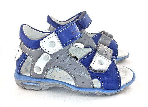 RBB11_1471_0368_OS Indigo Gray Leather Sandals
