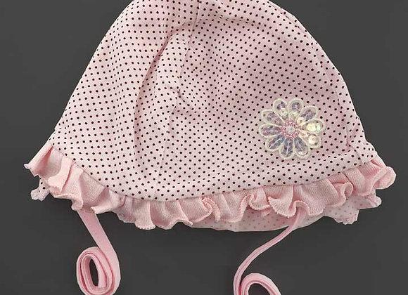 MG_24P_SH Pink Polka Dot Spring Hat