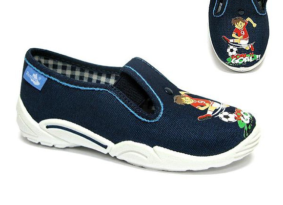RBB33_371_P0823 Navy Goal Canvas Shoes