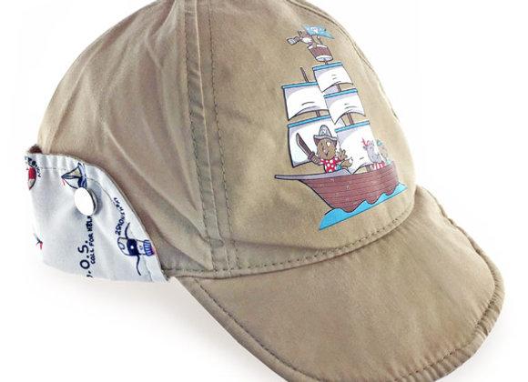YB_025B_SH Beige Summer Hat