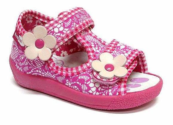 RBG13_140_L_0553OT Pink Canvas Sandals