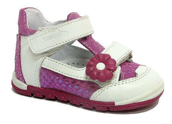 RBG_13_1436_0509 White/Fuchsia Leather Shoes