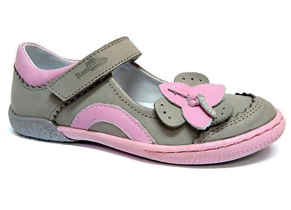 RBG23_3085_0160_D Gray-Pink Leather Mary Jane