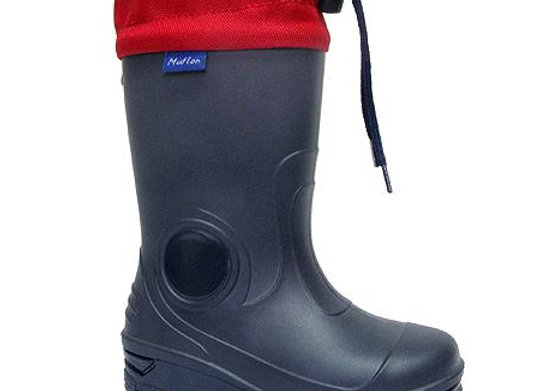 RB23_487_0112_R Navy/Red Rain Boots