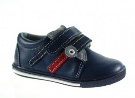 MB_305_NAVY_R Leather Sneakers