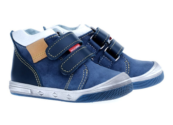 MB_1302_HT Navy Leather High Tops