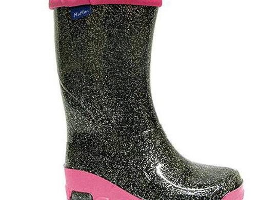 RBG23_492_0755_R Black Glitter Rain Boots