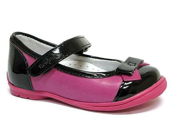 RBG_13_1405_0455 Black/Magenta Leather Mary Jane