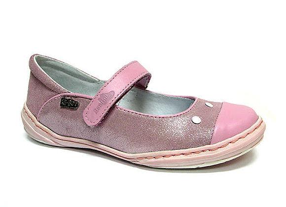 RBG33_4153_0164_D Pink Shimmer Leather Shoes