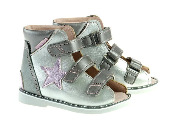 MGOR1209_OS Silver Leather Sandals