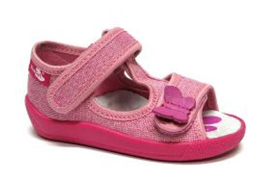 RBG13_140_P_0729_OS Sparkly Pink Canvas Sandals