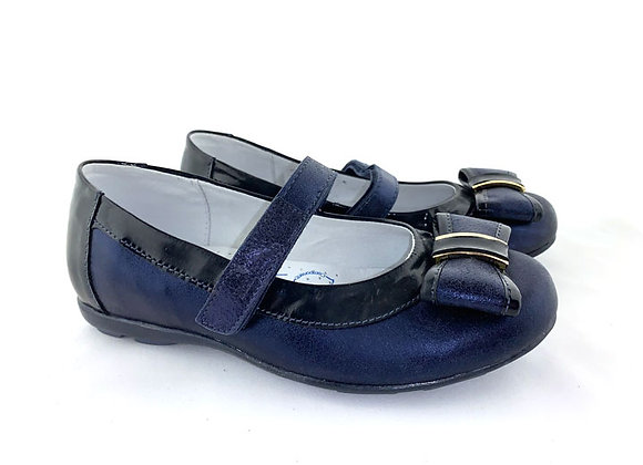 RBG33_4203NM_D Navy Leather Mary Jane