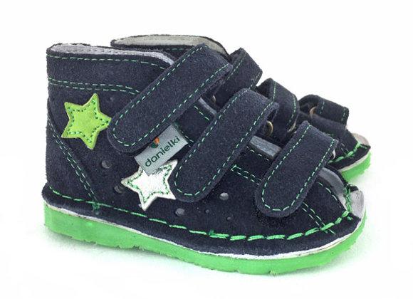 DBS_TA125 Navy Suede Sandals