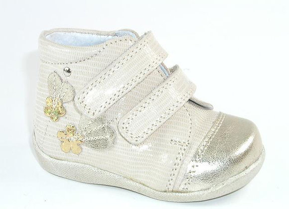 KG03857_BEIGE_S Gold Leather High Tops