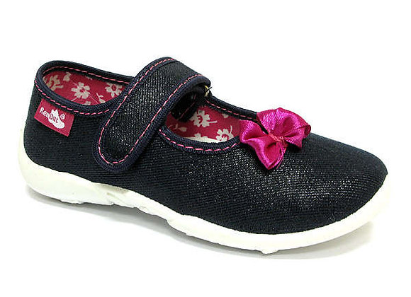 RBG33_415_0624 Sparkly Navy Canvas Shoes