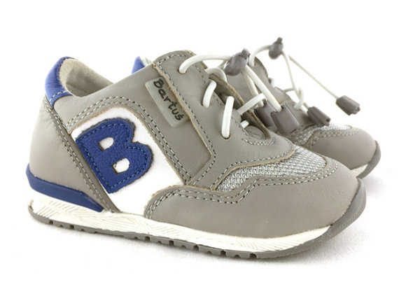 BB_168_S Gray Leather Sneakers