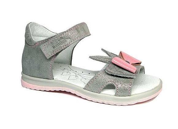 RBG21_3364_0627 Shimmer Gray Leather Sandals