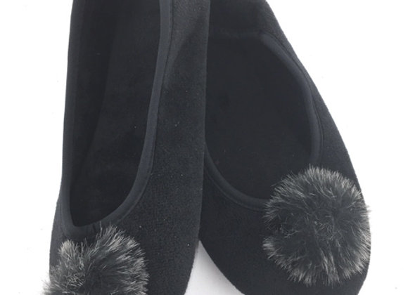 YGS_B Black Slippers