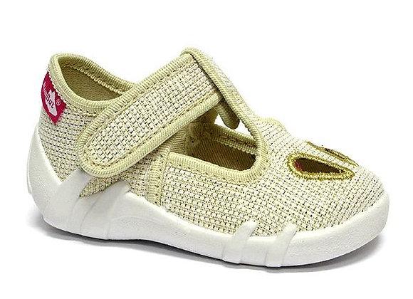 RBG13_143_P0821 Sparckle Gold Canvas Shoes