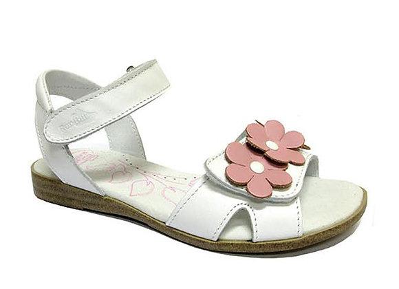 RBG31_4296_OS White Leather Sandals