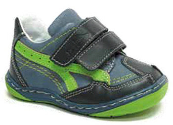RBB13_268_S Navy-Green Leather Sneakers