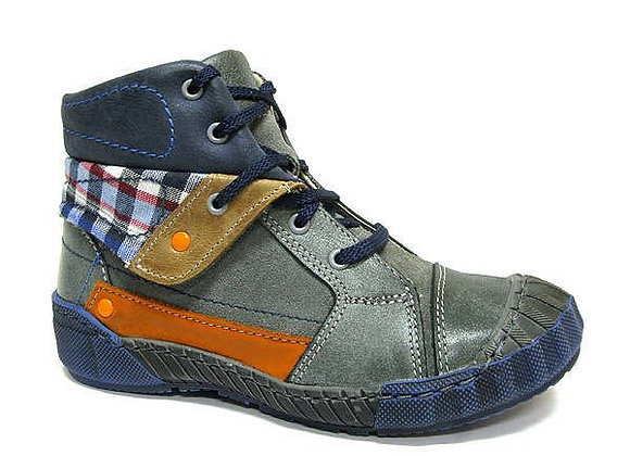 RBB33_4303_0155_HT Gray Leather High Tops
