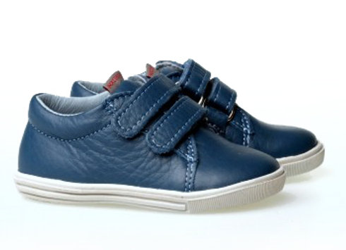 MB_305_JEANS Leather Sneakers