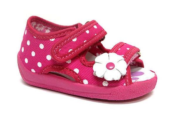 RBG13_112_0040OT Magenta Canvas Sandals