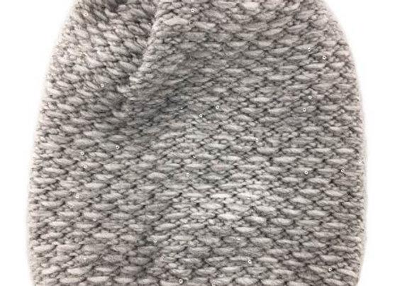 JZA_189_WHG Women's Gray Sparkly Slouch Winter Hat