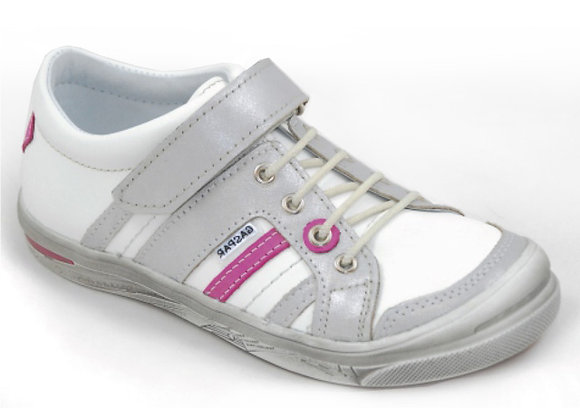GG_260_16_S White-Silver Sneakers
