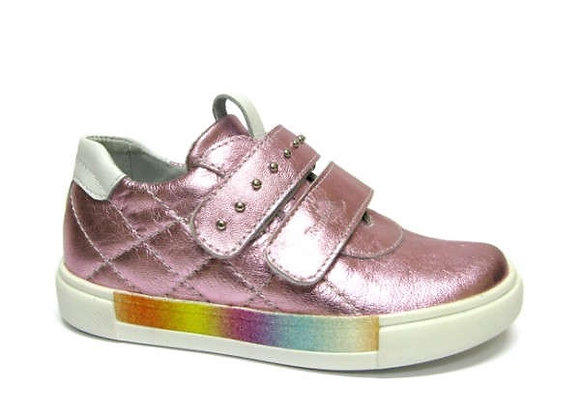RBG23_3344_0981_S Pink Metallic Leather Sneakers