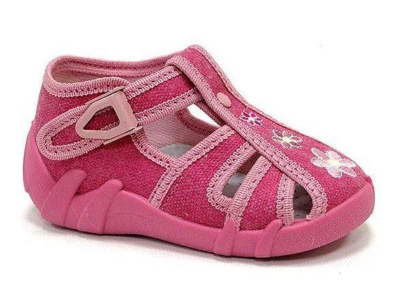 RBG13_106_0164CT Pink Canvas Sandals