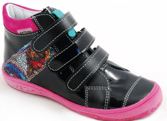 GG107_68_HT Black Gloss Leather High Tops