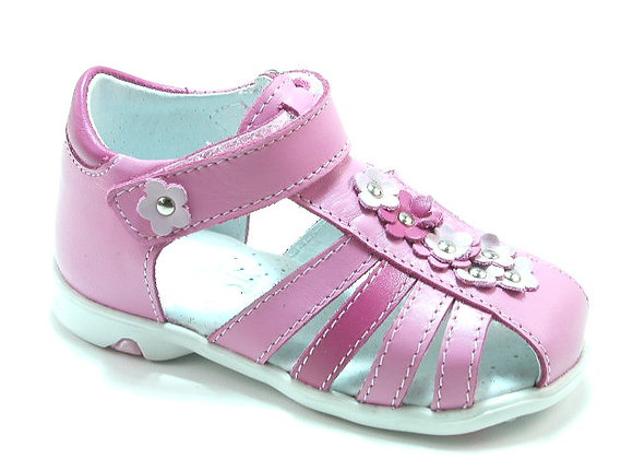 KG3432_CS Pink Leather Sandals