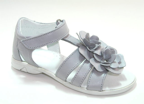 KG3179_OS Gray Leather Sandals