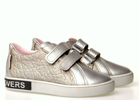 MG1235_SILVER_S Cool Silver Leather Sneakers