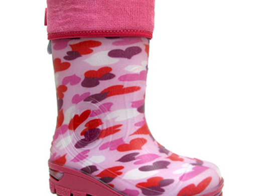 RBG33_466PH_R Pink Hearts Rain Boots