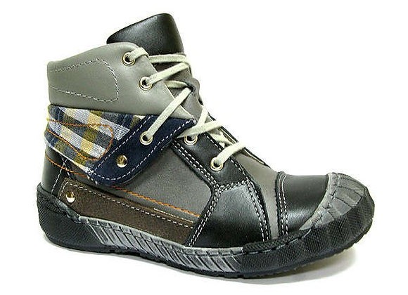 RBB33_4303_0154_HT Gray-Black Leather High Tops