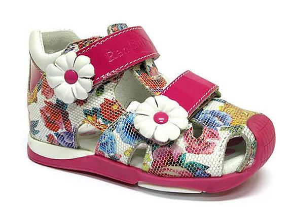 RBG11_1433F_CS Flower Leather Sandals