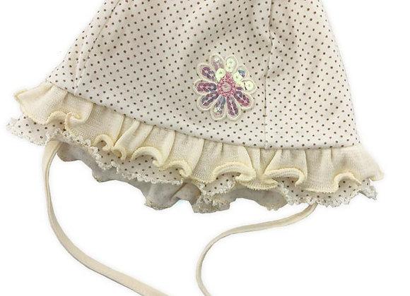 MG_24I_SH Powder Yellow Polka Dot Spring Hat