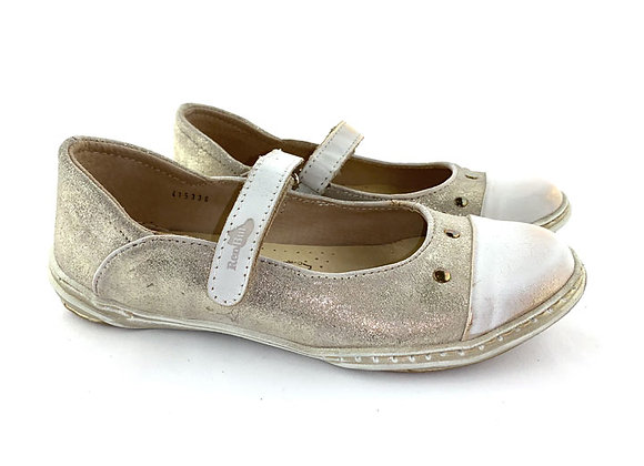 RBG33_4153G_D Gold Shimmer Leather Shoes