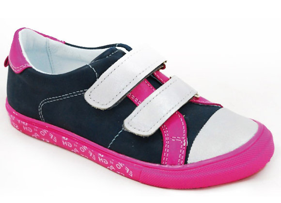 GG204_03_S Navy Leather Sneakers