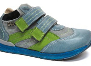 RBB23_3267_S Jeans-Green Leather Sneakers