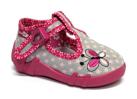 RBG13_102_L0616 Pink/Gray Stars Canvas Shoes