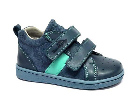 RBB13_1429T Navy Leather Sneakers