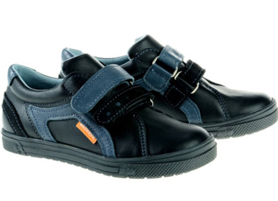 MB268_S Black Leather Sneakers