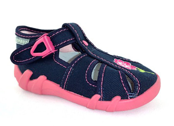 RBG13_106N_CT Navy Canvas Sandals