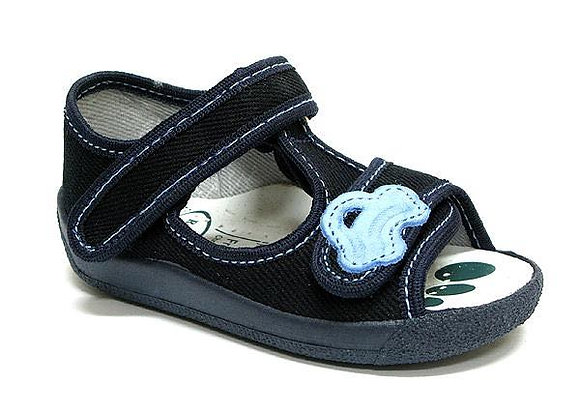 RBB13_140_0113OT Navy Canvas Sandals